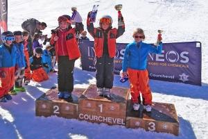 Ava 1ère place et Katie 2ème place CR Courchevel
