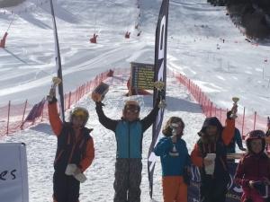 Ava 2ème place et Katie 4ème place à Micro Coupe de Courchevel