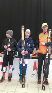 Cédric 3ème place jeune au Slalom Géant à Chamrousse