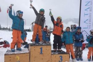 Nathan 3ème saut à ski à La Tania