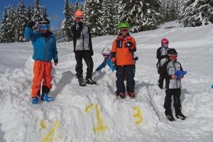 Nathan 3ème place Saut à ski à Méribel