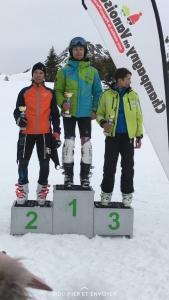 Baptiste 2ème place dans la catégorie U16 au Grand Prix de Champagny