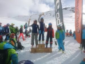 Amélie 3ème au Ski Cross de Val Thorens