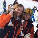 Ava 2ème place et Katie 3ème place Micro Coupe de Courchevel
