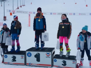 Katie 1ère U12 GS Meribel
